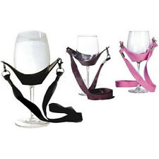 Portable Wine Yoke Lanyard Glass Holder Support Straps Black Birthday Gifts