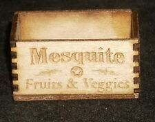 Dollhouse Miniature Mesquite Fruits & Veggies Produce Crate 1:12 Farm Store