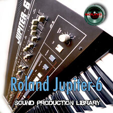 Roland Jupiter 6 - Perfect Original WAVE/KONTAKT Sound Studio Library  on CD