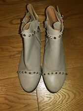 New Primark ankle boots stud detail taupe colour side zip size 6/39