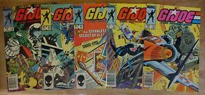 Lot Of 5 Vintage GI JOE / A REAL AMERICAN HERO / Issues 22, 24, 26, 27, 28
