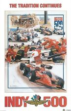 1994 INDIANAPOLIS INDY 500 RACE TRACK AUTO RACING COSTACOS MINI PHOTO POSTER