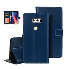 For LG V20 V30 V40 G6 Q6 Flip Magnetic Luxury Leather Case Wallet Card Cover