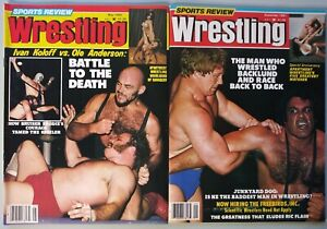Vintage Pro Wrestling Magazine Lot of 2 Sports Review Wrestling New WCW WWF 1980