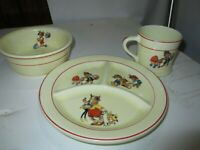 1920s Crown Potteries China Child Food Dishs