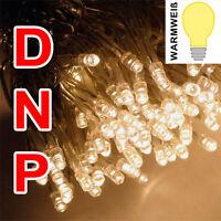 10x LED Micro Lichterkette warmweiß weiß Licht Lampe Kette Batterie