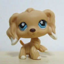 Littlest Pet Shop Collection LPS Figure #748 White Dipped Ears Cocker Dog