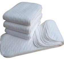 5 PCS Reusable Baby Cloth Diaper Nappy Liner insert 3 Layers Cotton Wholesale!