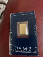 (One) 2.5 Gram Gold Bar  Pamp Suisse .9999