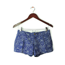 Old Navy sz 0 printed shorts blue white floral geometric pockets XS inseam 3""