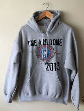 """Washington DC """"ONE AND DONE"""" Obama Hooded Pullover Sweatshirt Hoodie Size Large"""
