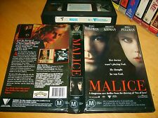 VHS *MALICE(1993)* Australian Roadshow Home Video First Edition - Crime Thriller