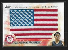 2012 TOPPS OLYMPIC CANDACE PARKER FLAG PATCH CARD ~ TENNESSEE BASKETBALL ~ WNBA