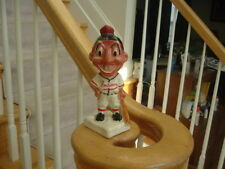 1950's Cleveland Indians Stanford Pottery Bank Razor Discard Chief Wahoo Gold