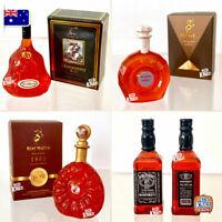 Mini JD & XO Whisky Bottles - Miniature Dollhouse Accessories 1:12
