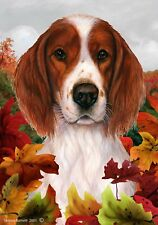 Fall House Flag - Red and White Irish Setter 13486