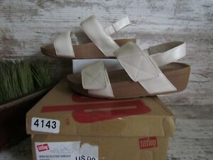 Fitflop Mina Back-Strap Stone Leather Sandals Women's Size 6 / 37