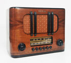 Old Antique Wood RCA Victor Vintage Tube Radio - Restored Working Deco Table Top