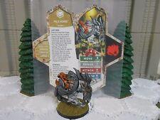 Heroscape Custom Pale Horse Double Sided Card & Figure w/ Sleeve Valkril