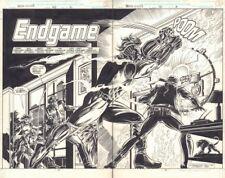 Marc Spector: Moon Knight #40 'Endgame' Title Splash DPS - 1992 by Gary Kwapisz Comic Art