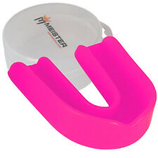 CUSTOM PINK SINGLE MOUTH GUARD w/ CASE - Meister MMA Gum Shield Women's MOLDABLE