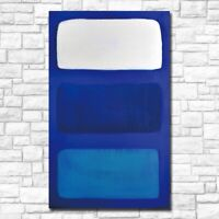 MARK ROTHKO Painting Abstract Art on Canvas LARGE 28X46 Blue Home Decor Vertical