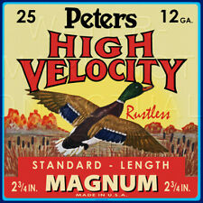 Reproduction Vintage Peters High Velocity Magnum 12ga Shell  Label Canvas Print