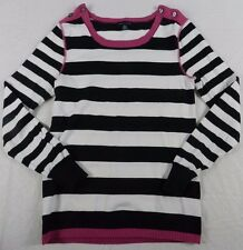 WOMENS SWEATER = TOMMY HILFIGER = SIZE SMALL = pink striped black white = KN55