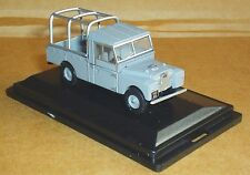 OXFORD DIECAST LAND ROVER SERIES 1 109 GREY CAGE BACK MODEL VEHICLE 1:76 SCALE