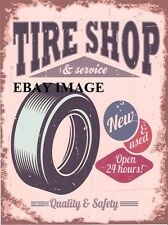 TIRE SHOP AND SERVICE (AMERICAN) METAL SIGN  garage tin wall art games room