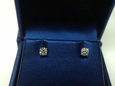 0.32 CT F-G SI GENUINE ROUND DIAMOND STUD EARRINGS 14K WHITE GOLD 100% NATURAL