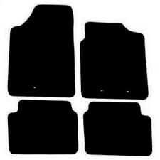 Hyundai i10 2009 Onwards Black Tailored Fitted Car Mats Free Coloured Edging