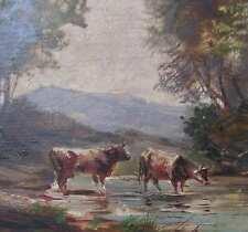 Heichele Max - KÜHE Landschaft  IDYLLE an einem Gewässer cows pastoral landscape