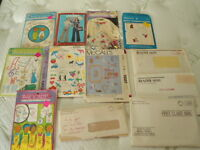 Lot of 12 Packages Hot Iron Transfers - Vogart, McCalls ++  Cut & Uncut