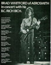 1978 BRAD WHITFORD OF AEROSMITH IN A B.C. RICH BICH AD