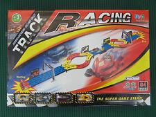 Super Star Monster 4 macchinine GIOCO PISTA 64 PZ RETRO CARICA AUTO ACQUAVERDE