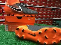 Nike Obra 2 Academy DF FG Soccer Cleats Grey / Orange Size 5 New In Box