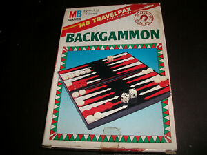 VINTAGE TRAVEL BACKGAMMON GAME 1990 MB GAMES TRAVELPAX COMPLETE FREE P+P