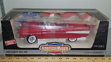 1/18 ERTL AMERICAN MUSCLE 1957 CHEVROLET BEL AIR CONVERTIBLE MATADOR RED pd