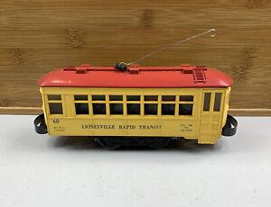 Lionel 60 Vintage O Lionelville Motorized Rapid Transit Trolley/Box