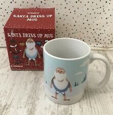 Brand New Santa Dress Up Mug Cup With Decorative Stickers Christmas Xmas Gift