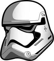 Star Wars The Force Awakens Decal Bumper Sticker 6 inch Stormtrooper Helmet