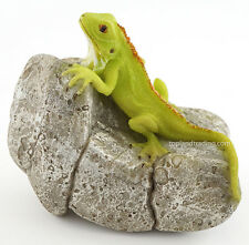 """Top Collection Enchanted Story Fairy Garden #4450 IGUANA on ROCK, 3.25"""" x 3.75"""""""