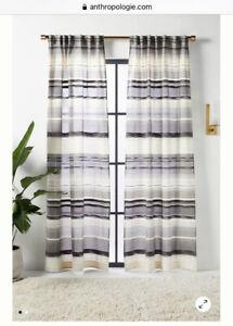 NEW Anthropologie Davonne Jacquard Woven Cotton Silk Curtain Panels X2 50 x 108