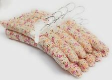 Set of 10 Quality Padded Hangers - Sweet Peach Flower