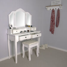 Elegant White Dressing Table - Vanity Makeup Table - LARGEST MODEL