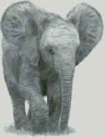 Cross Stitch Chart - Kit Elephant Baby