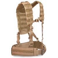 Bulldog MK2 Military Army Cadet MOLLE Airborne Webbing Belt Yoke Set Coyote Tan