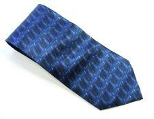 ENRICO ROSSINI  Necktie Blue 100% Silk Neck Tie NEW with Tags & Hanger $25