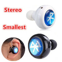 Stereo Bluetooth Earplug Ear Headphones Hands-free Headset Support Music & Call